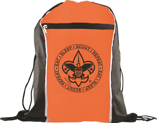 Picture of Cinch Backpack with BSA® Branding - Orange