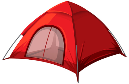 Picture of 2-Person Waterproof Tent - Red