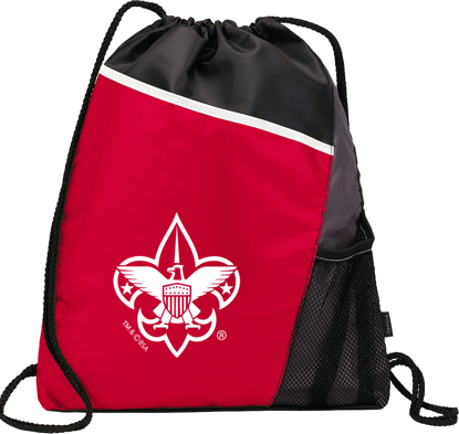 Picture of Cinch Backpack with BSA® Branding - Red